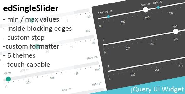 edValueSlider - jQuery value slider widget - CodeCanyon Item for Sale