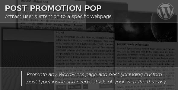 Post Promotion Pop - CodeCanyon Item for Sale