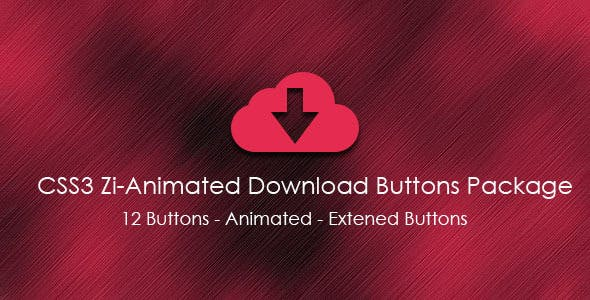 CSS3 Zi-Animated Download Buttons Package