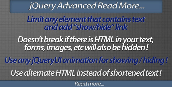 jQuery Advanced Read More plugin - CodeCanyon Item for Sale