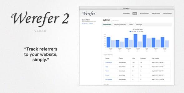 Werefer 2 - Website Referrer Tracker
