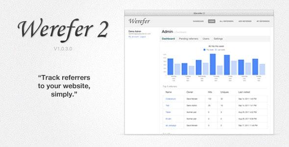 Werefer 2 - Website Referrer Tracker - CodeCanyon Item for Sale