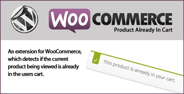 WooCommerce Product Already In Cart