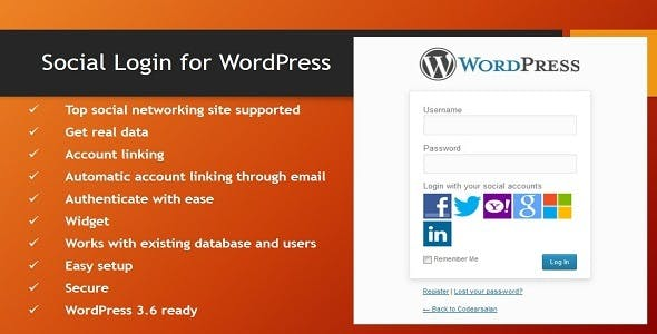 Social Login for WordPress