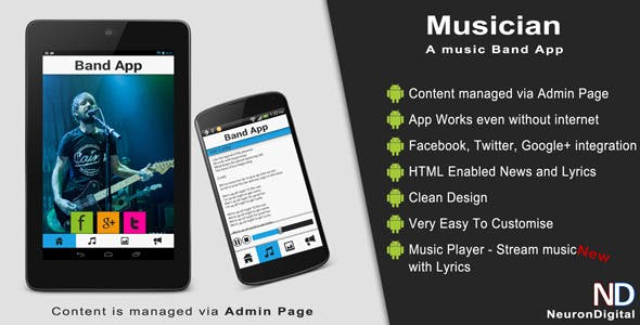Musician - A Music Band Android App