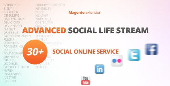 Advanced Social Life Stream - Magento Extension - CodeCanyon Item for Sale