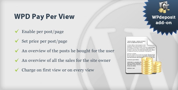 WPD Payperview add-on - CodeCanyon Item for Sale