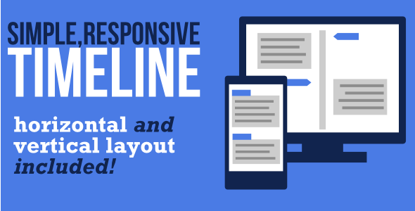 Simple Responsive Timeline Template - CodeCanyon Item for Sale