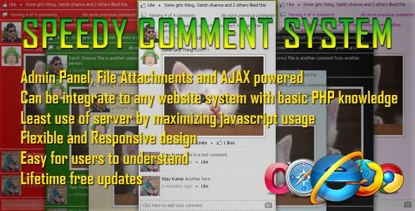 Speedy Comment System - CodeCanyon Item for Sale