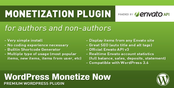 WordPress Monetize Now - CodeCanyon Item for Sale