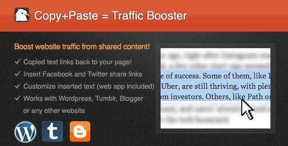 Copy-Paste Traffic Booster - CodeCanyon Item for Sale