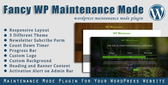 Fancy WP Maintenance Mode - WordPress Plugin - CodeCanyon Item for Sale