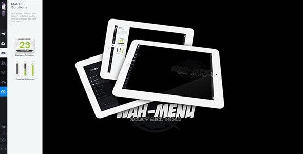 jQuery Wah-Menu - CodeCanyon Item for Sale