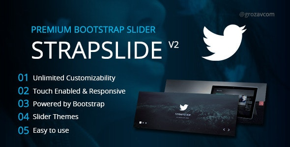 Strapslide - Responsive Bootstrap Slider Plugin - CodeCanyon Item for Sale