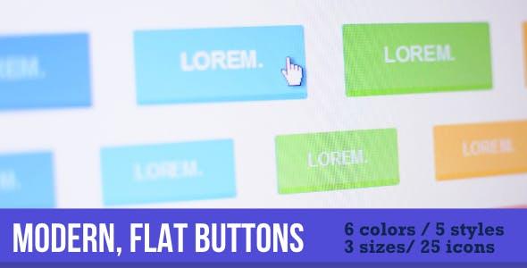Flat, Modern Buttons
