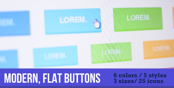 Flat, Modern Buttons - CodeCanyon Item for Sale