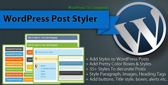 WordPress Post Styler - Pretty Post Styles Plugin