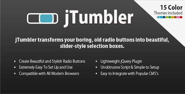 jTumbler - Beautiful, Slider-Style Selection Boxes