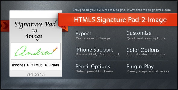 HTML5 Signature Pad to Image - CodeCanyon Item for Sale