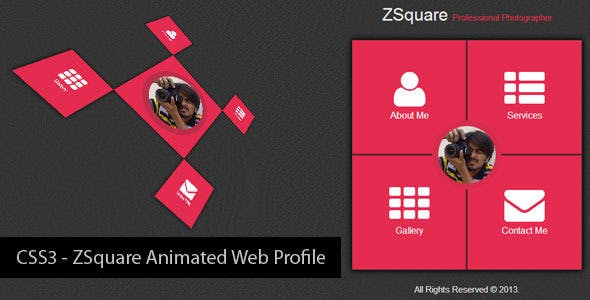 CSS3 - ZSquare Animated Web Profile