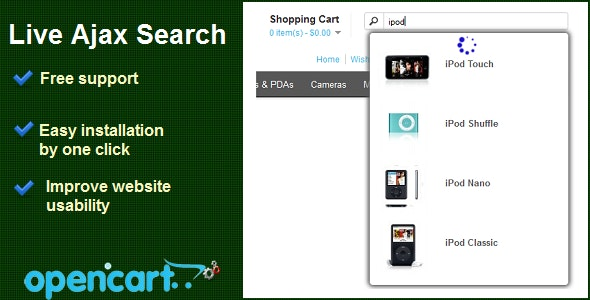 Live Ajax Search - CodeCanyon Item for Sale