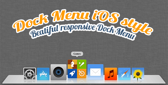 Dock Menu HTML5/CSS3 - CodeCanyon Item for Sale