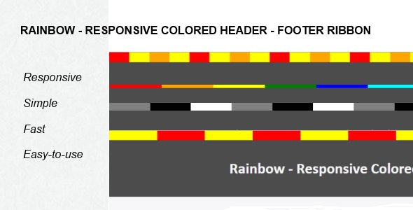Rainbow - Responsive Colored Ribbon For Wordpress - CodeCanyon Item for Sale