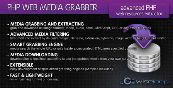 PHP Web Media Grabber