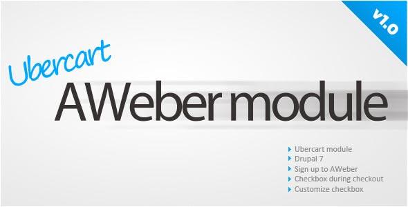 Ubercart AWeber sign up