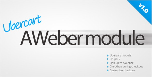 Ubercart AWeber sign up - CodeCanyon Item for Sale