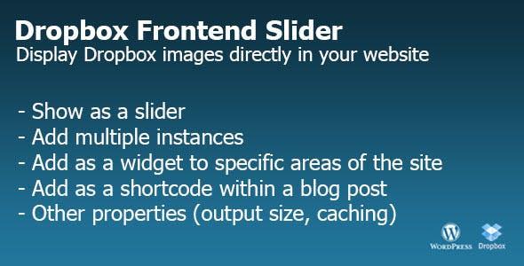 Dropbox Frontend Slider