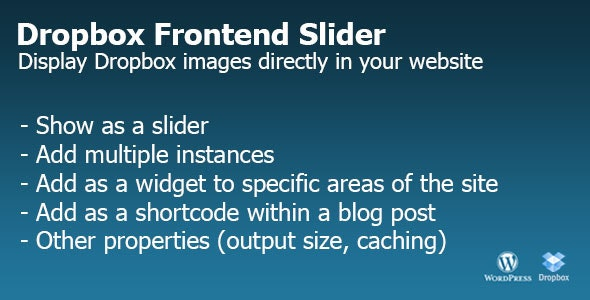 Dropbox Frontend Slider - CodeCanyon Item for Sale