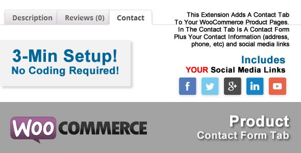 WooCommerce Product Contact Form Tab - CodeCanyon Item for Sale