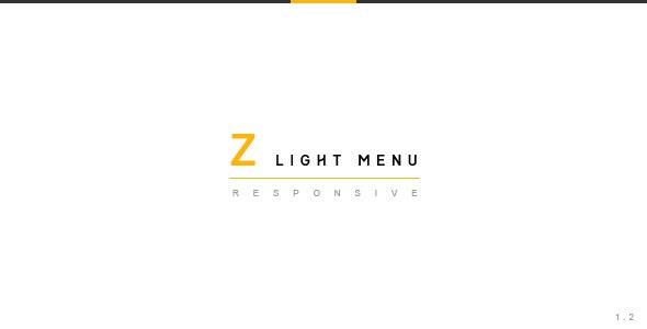 Z Light Menu | jQuery Plugin - CodeCanyon Item for Sale