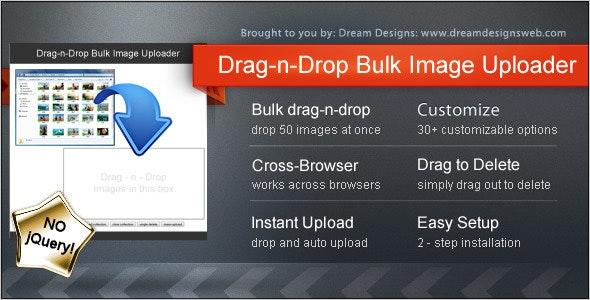 Drag-n-Drop Bulk Image Uploader - CodeCanyon Item for Sale