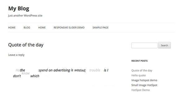 Responsive Animate Quote Rotator WordPress Plugin