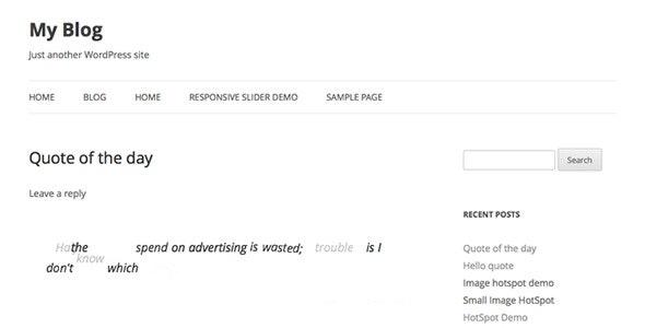 Responsive Animate Quote Rotator WordPress Plugin - CodeCanyon Item for Sale