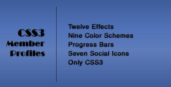 CSS3 Member Profiles with Animated Progress Bars