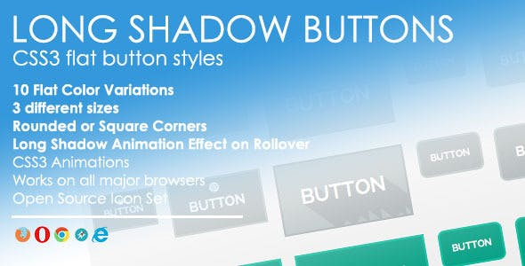 Long Shadow Buttons