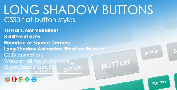 Long Shadow Buttons - CodeCanyon Item for Sale