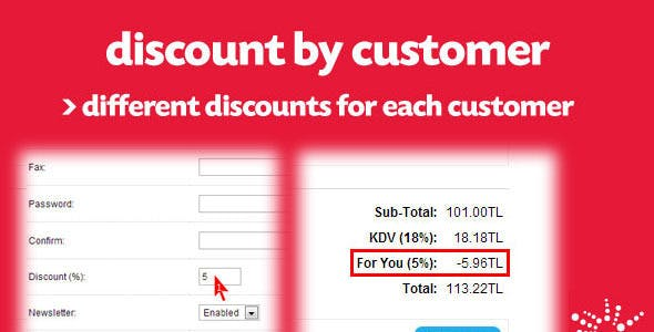 Special Discount for Each Customer (vQmod)