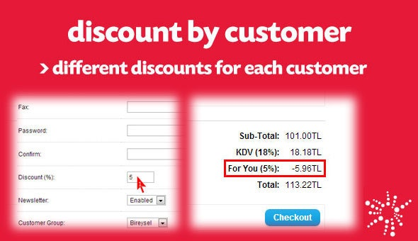 Special Discount for Each Customer (vQmod) - CodeCanyon Item for Sale