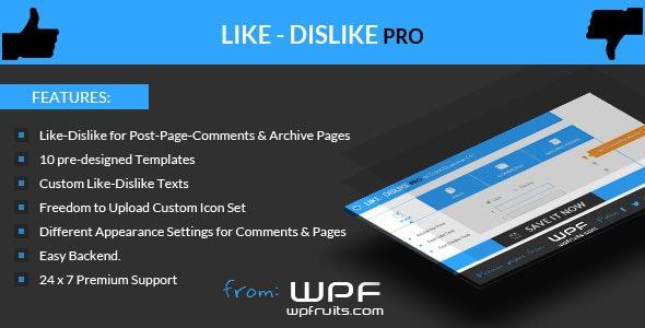 Like Dislike Counter WordPress Plugin - CodeCanyon Item for Sale