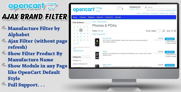 opencart ajax brand filter - CodeCanyon Item for Sale