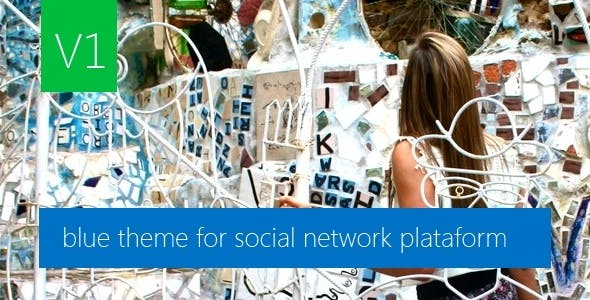 Blue Theme for PHP Social Network Plataform