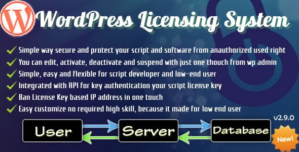 WordPress Licensing System Basic - CodeCanyon Item for Sale