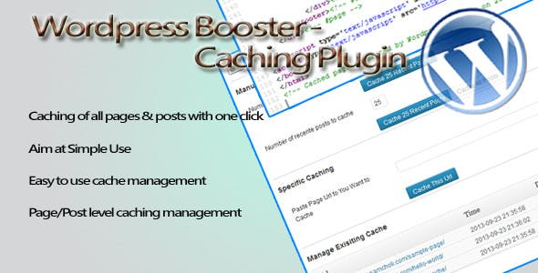 Wordpress Booster - Caching Plugin