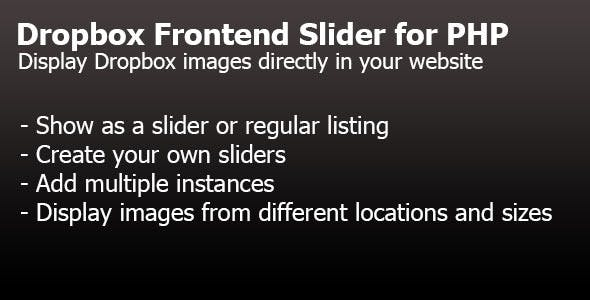 Dropbox Frontend Slider for PHP
