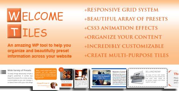 Welcome Tiles - Easy Responsive Multi-Purpose Grid