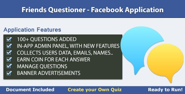 Friends Questioner - Facebook Application - CodeCanyon Item for Sale